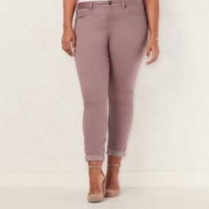 LC Lauren Conrad Lauren Cuffed Ankle Skinny Jeans